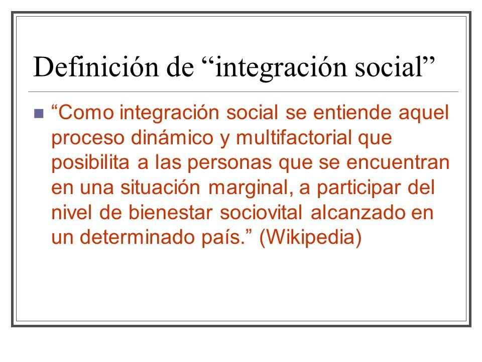 Definición de integración social