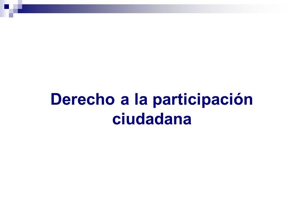 Derecho a la participación ciudadana