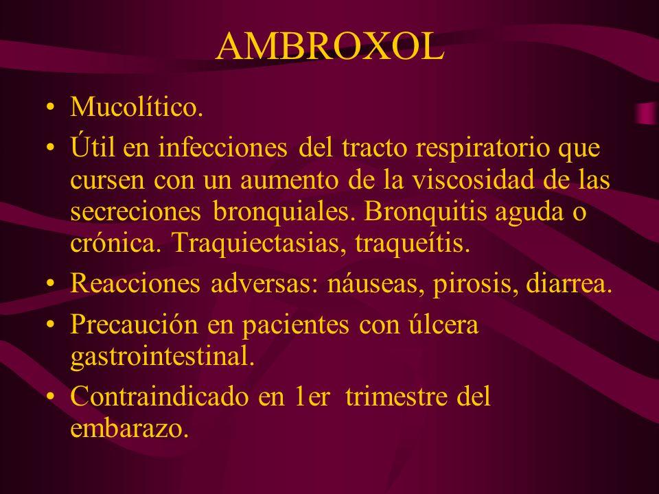 AMBROXOL Mucolítico.