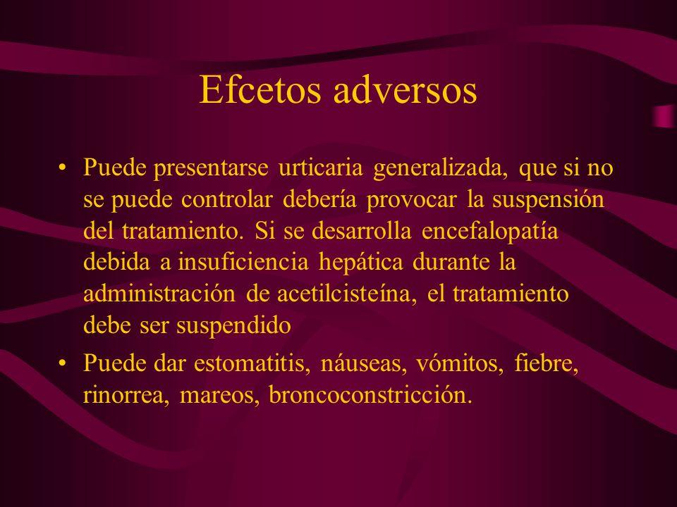 Efcetos adversos
