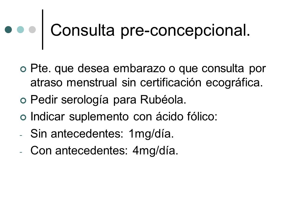 Consulta pre-concepcional.