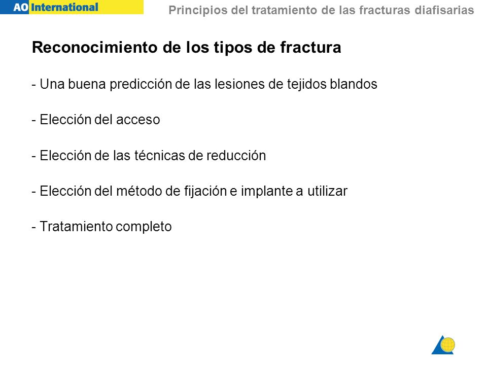 Reconocimiento de los tipos de fractura