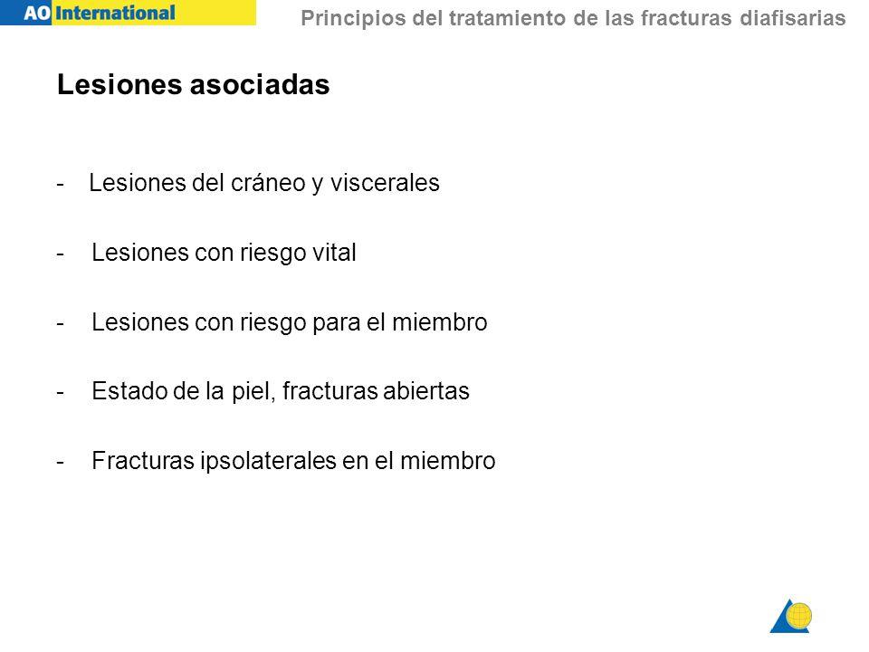 Lesiones asociadas Lesiones del cráneo y viscerales