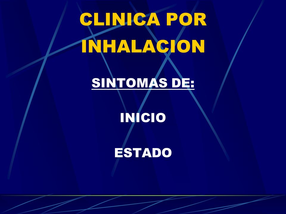 CLINICA POR INHALACION