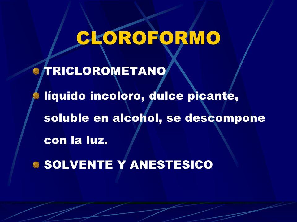 CLOROFORMO TRICLOROMETANO