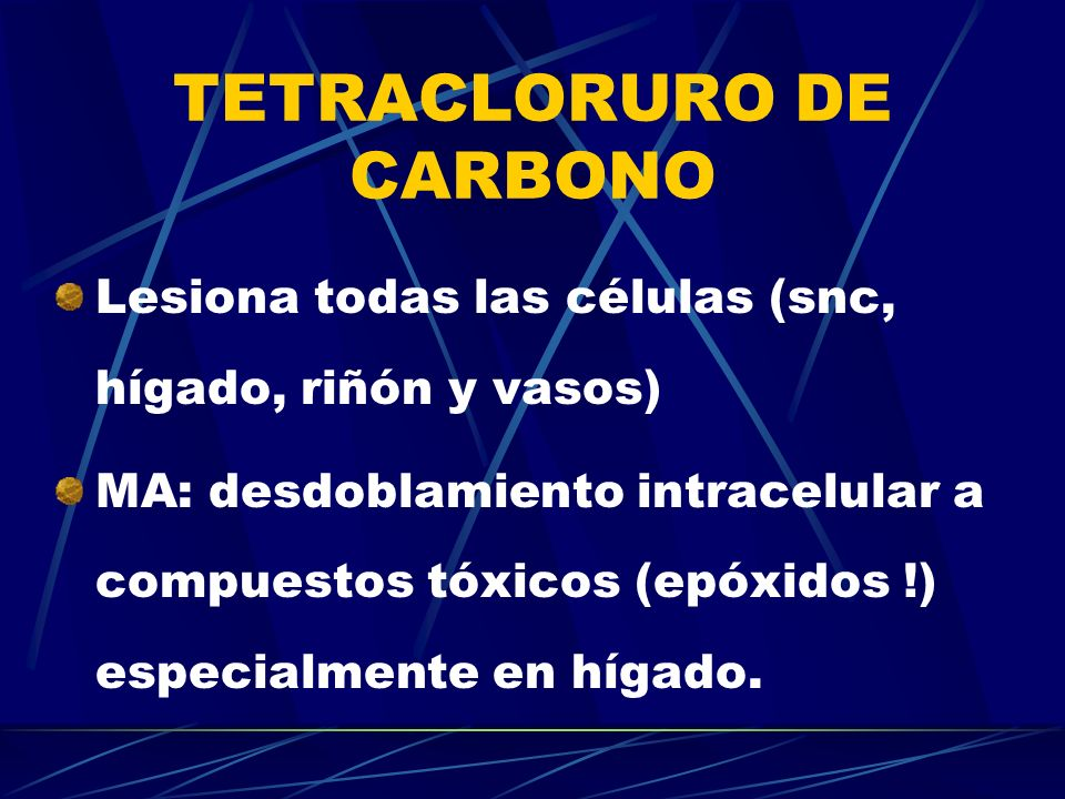 TETRACLORURO DE CARBONO