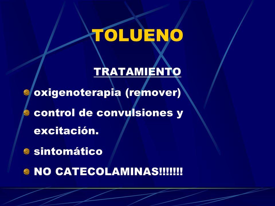 TOLUENO TRATAMIENTO oxigenoterapia (remover)