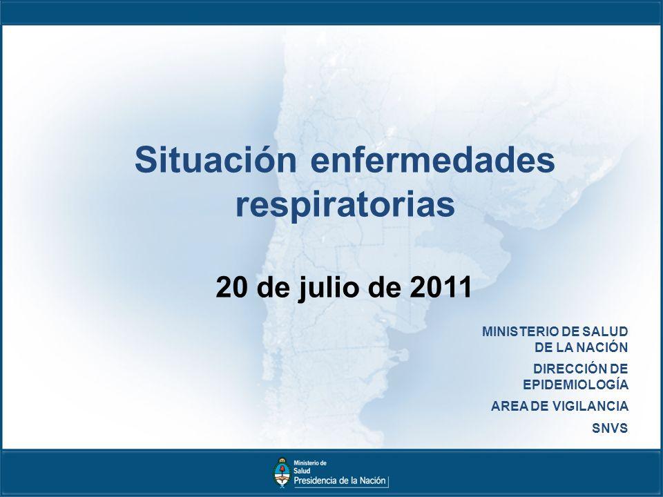 Situación enfermedades respiratorias 20 de julio de 2011