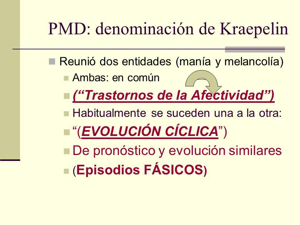 PMD: denominación de Kraepelin