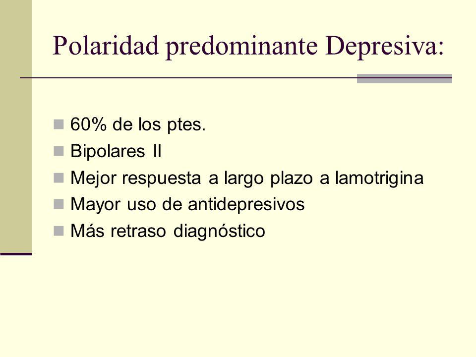 Polaridad predominante Depresiva: