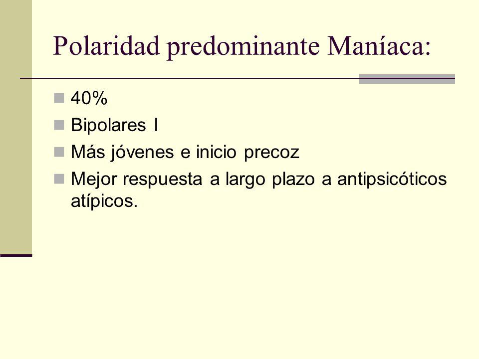 Polaridad predominante Maníaca: