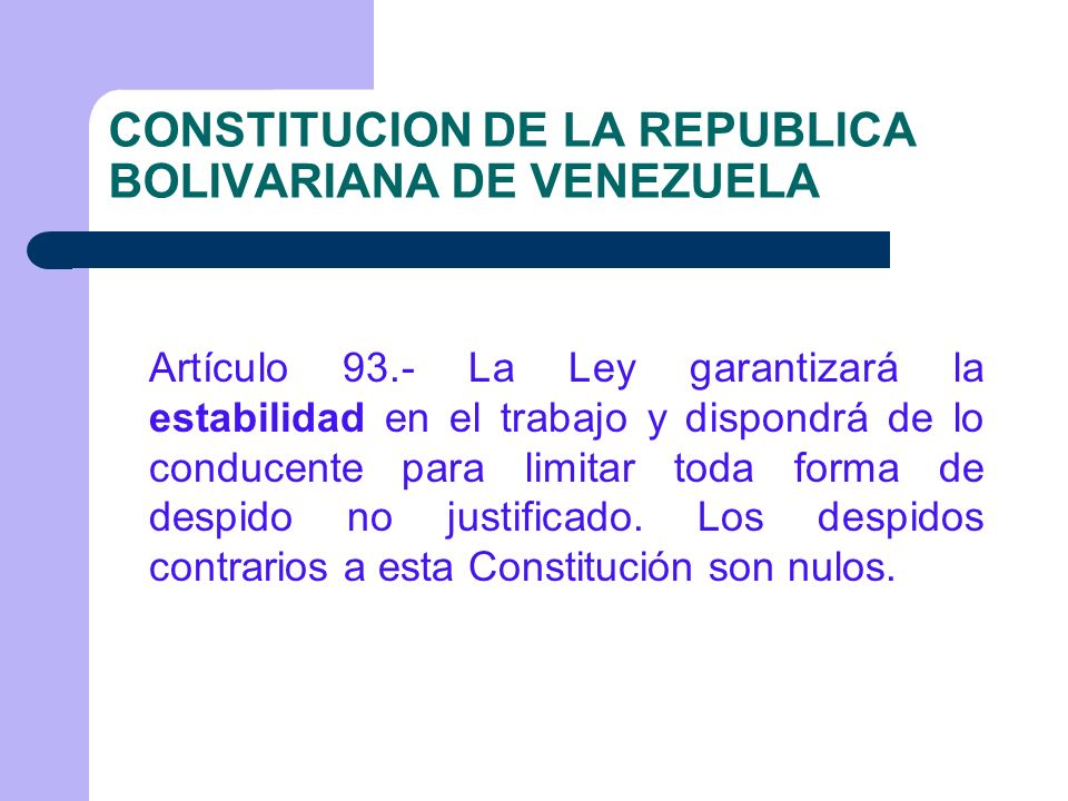 CONSTITUCION DE LA REPUBLICA BOLIVARIANA DE VENEZUELA