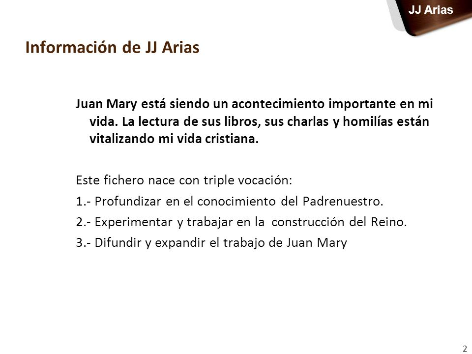Información de JJ Arias