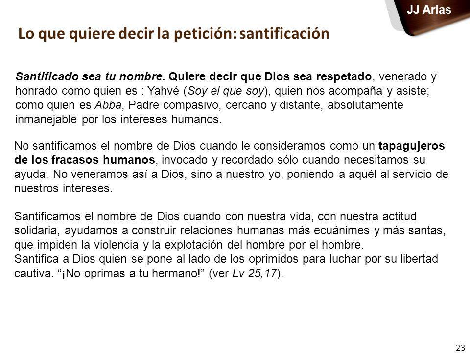Lo que quiere decir la petición: santificación