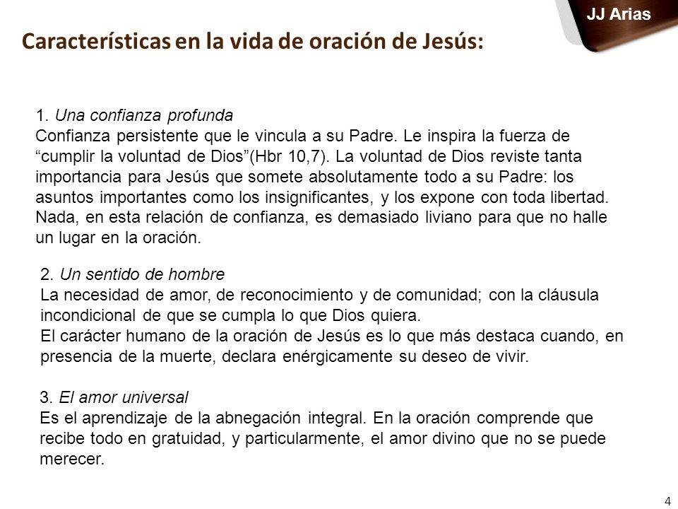 Características en la vida de oración de Jesús: