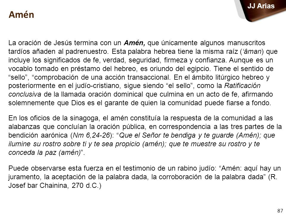 JJ Arias Amén.