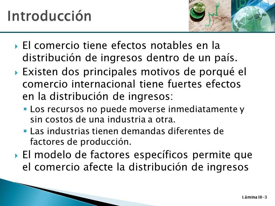 IntroducciónEl comercio tiene efectos notables en la distribución de ingresos dentro de un país.