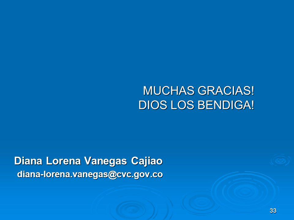 MUCHAS GRACIAS! DIOS LOS BENDIGA! Diana Lorena Vanegas Cajiao