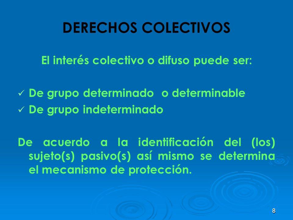 El interés colectivo o difuso puede ser: