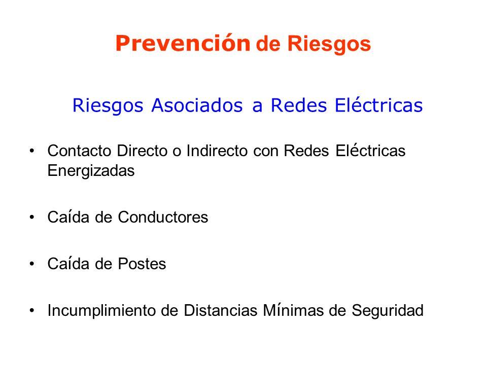 Riesgos Asociados a Redes Eléctricas