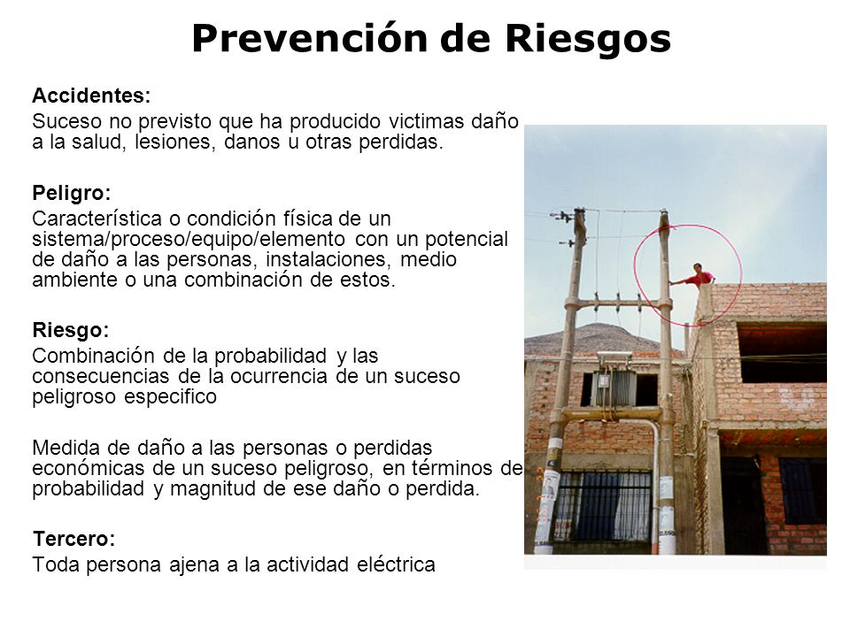 Prevención de Riesgos Accidentes: