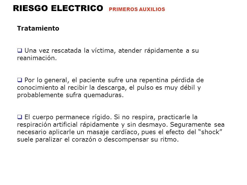 RIESGO ELECTRICO PRIMEROS AUXILIOS