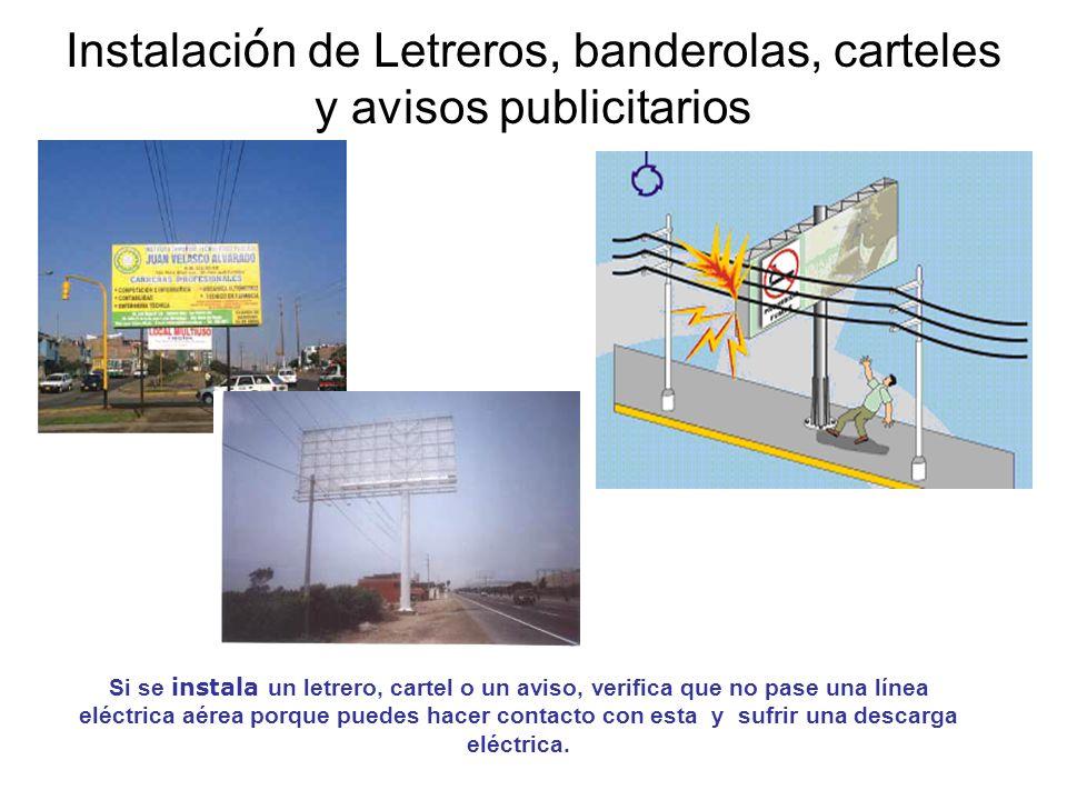 Instalación de Letreros, banderolas, carteles y avisos publicitarios