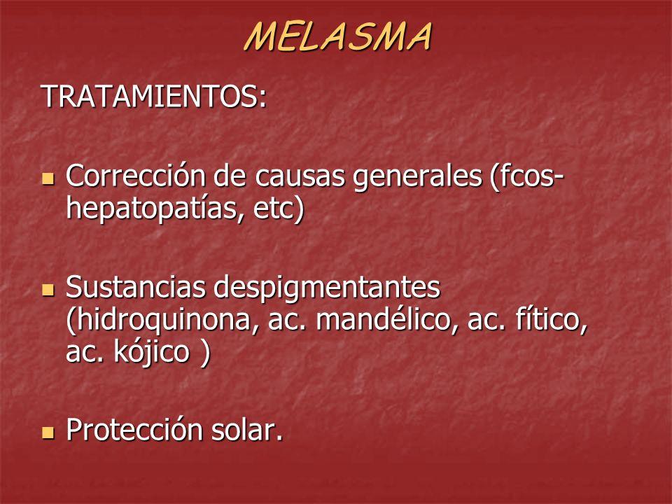 MELASMA TRATAMIENTOS: