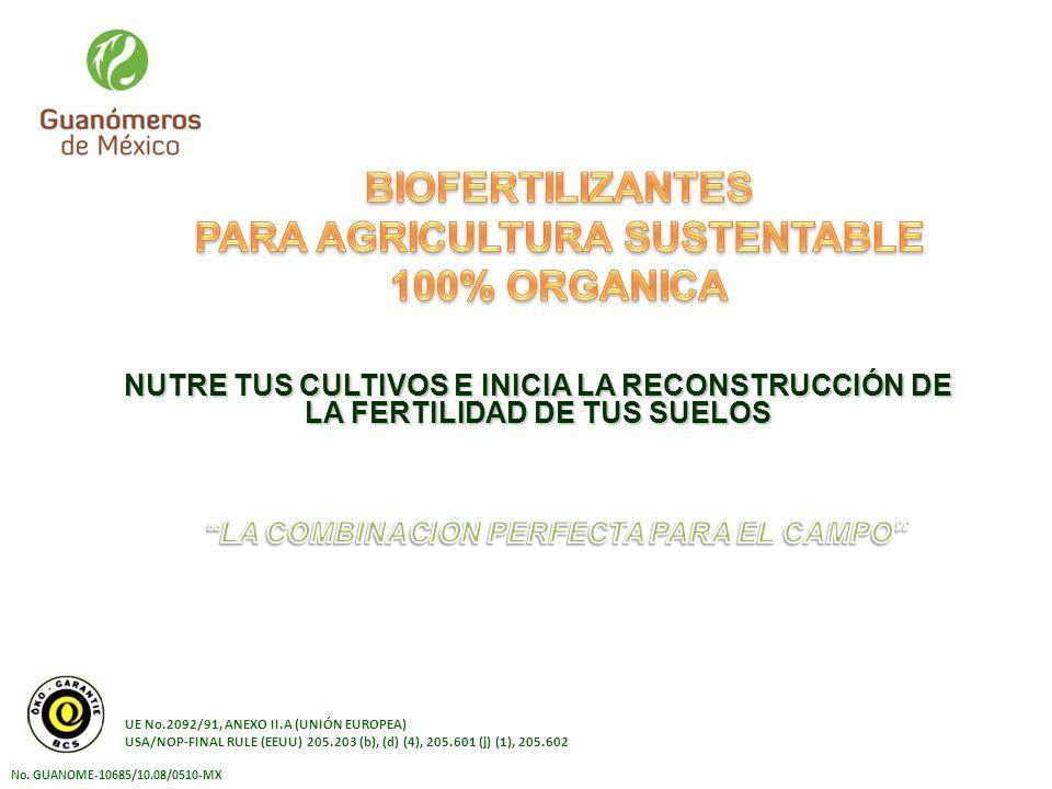 PARA AGRICULTURA SUSTENTABLE LA COMBINACIÓN PERFECTA PARA EL CAMPO