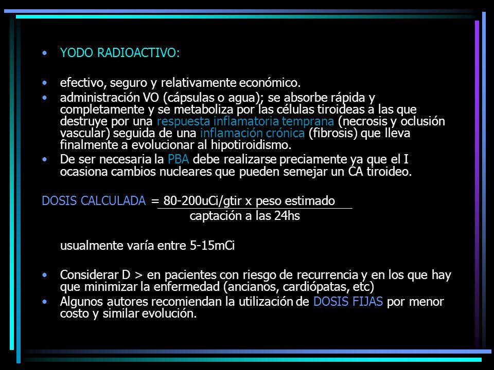 YODO RADIOACTIVO: efectivo, seguro y relativamente económico.