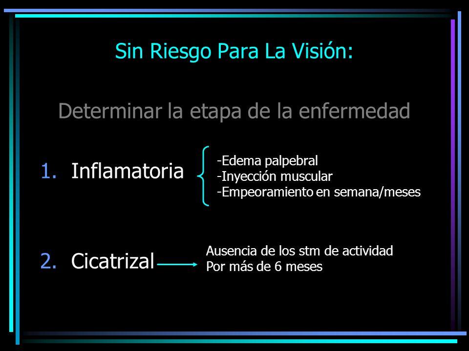 Sin Riesgo Para La Visión: Determinar la etapa de la enfermedad