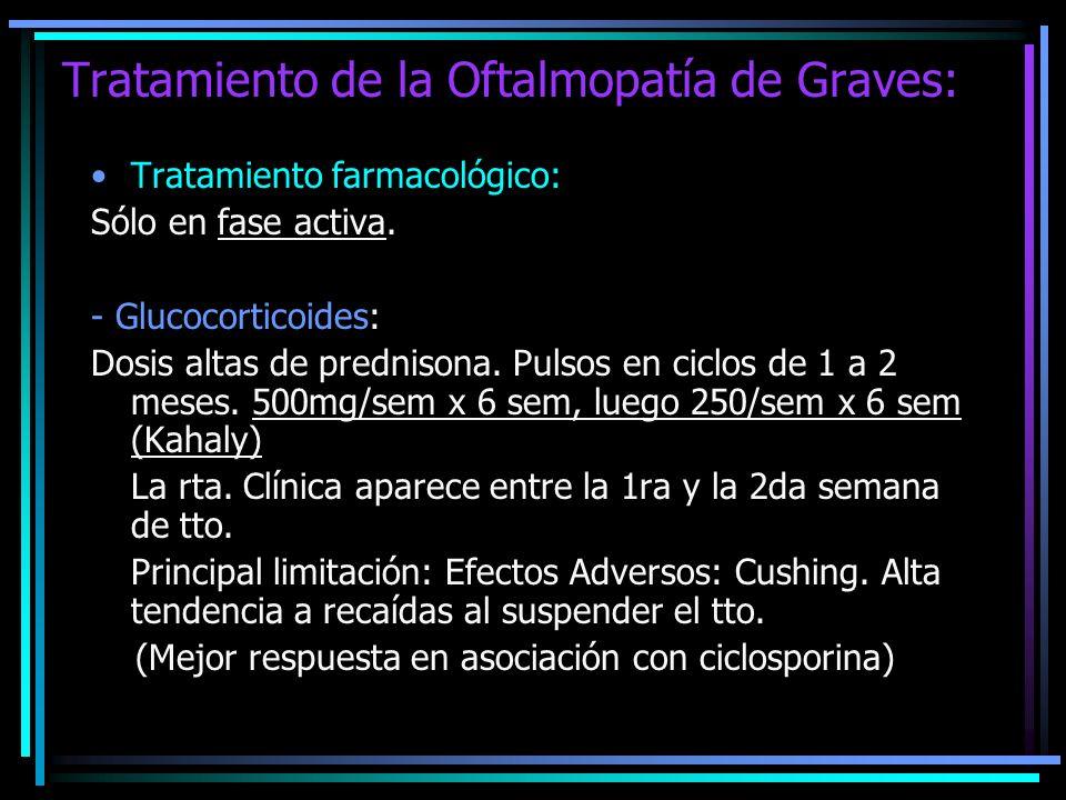 Tratamiento de la Oftalmopatía de Graves: