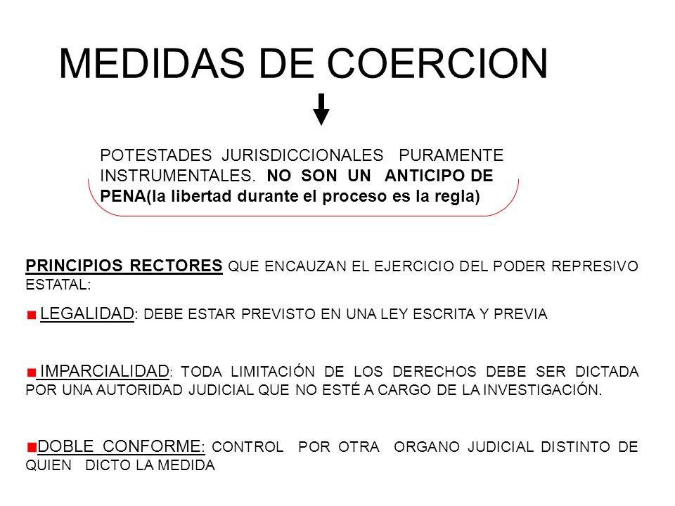 MEDIDAS DE COERCION