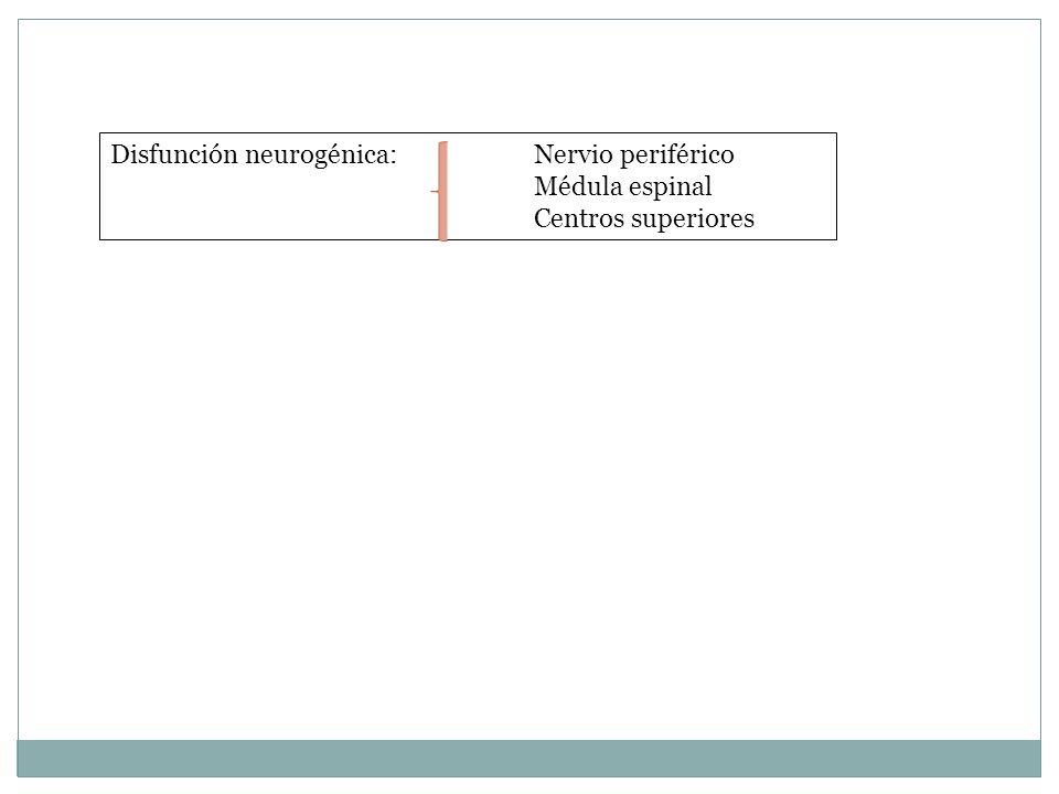 Disfunción neurogénica: Nervio periférico
