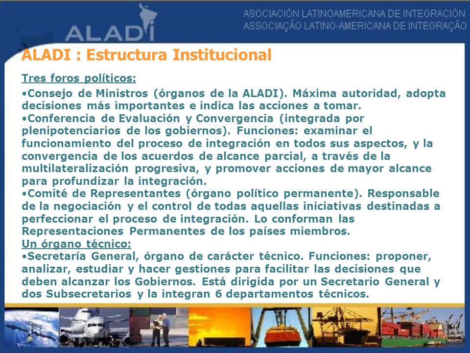 ALADI : Estructura Institucional
