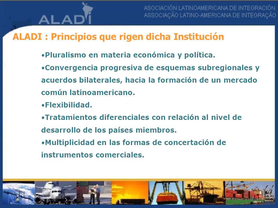 ALADI : Principios que rigen dicha Institución