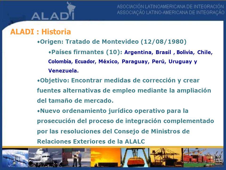 ALADI : Historia Origen: Tratado de Montevideo (12/08/1980)