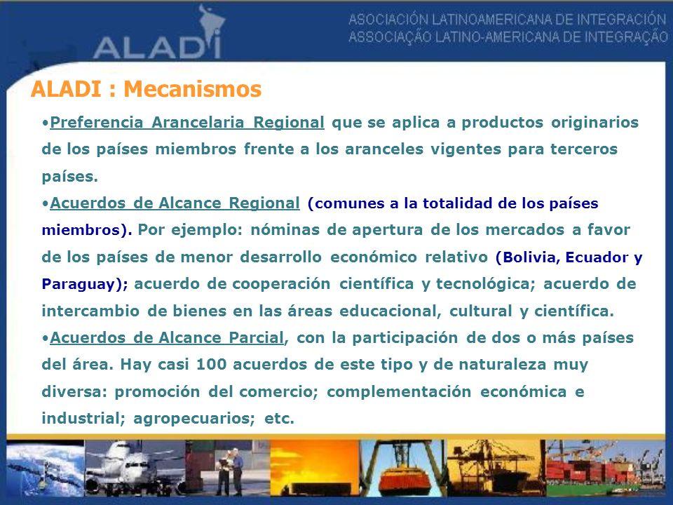 ALADI : Mecanismos