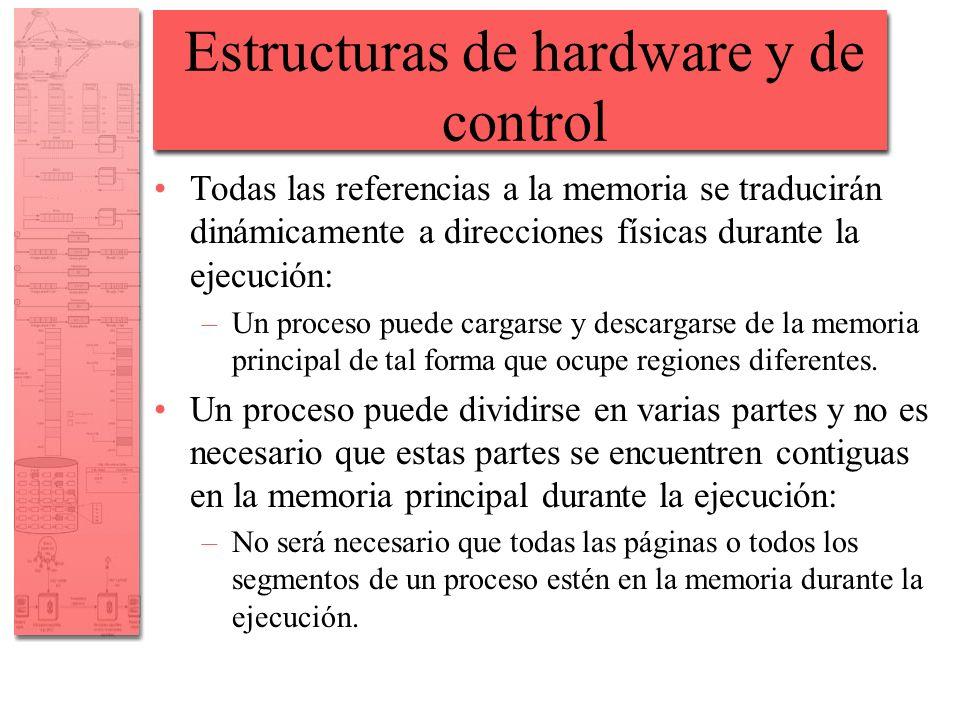 Estructuras de hardware y de control