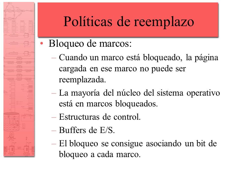 Políticas de reemplazo