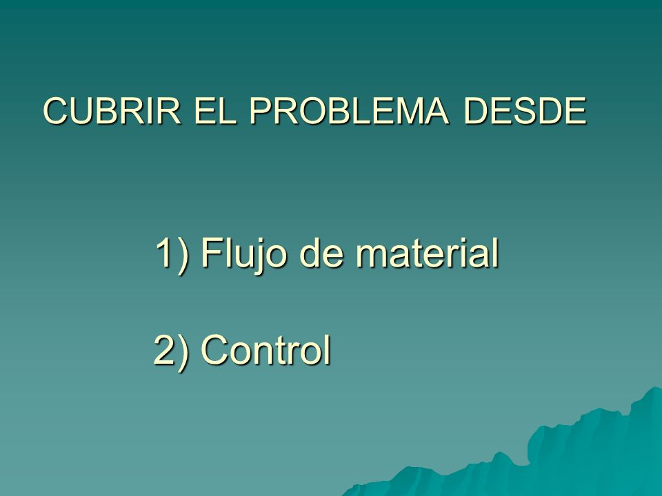 CUBRIR EL PROBLEMA DESDE