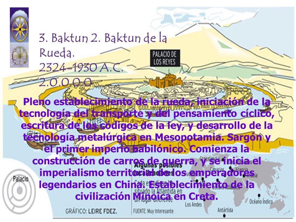 3. Baktun 2. Baktun de la Rueda. 2324-1930 A.C. 2.0.0.0.0