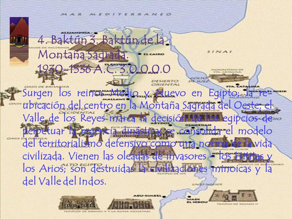 4. Baktún 3. Baktún de la Montaña Sagrada. 1930-1536 A.C. 3.0.0.0.0