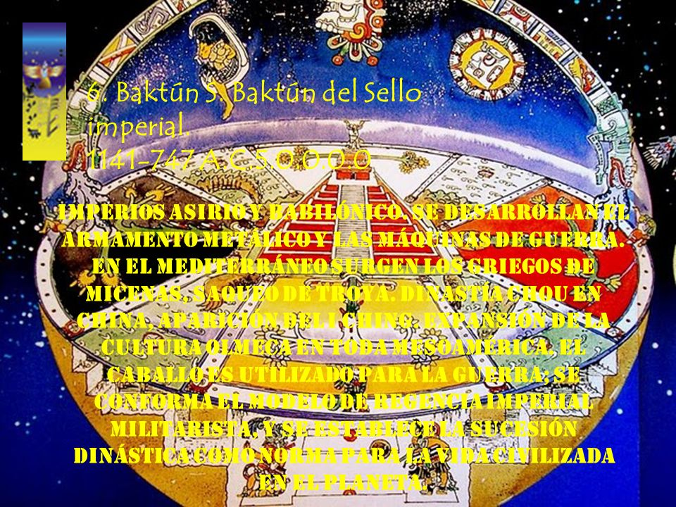 6. Baktún S. Baktún del Sello imperial. 1141-747 A.C.5.0.0.0.0