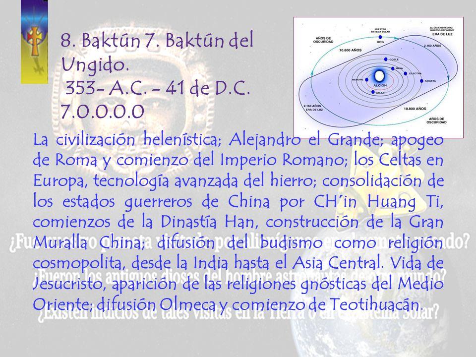 8. Baktún 7. Baktún del Ungido. 353- A.C. - 41 de D.C. 7.0.0.0.0
