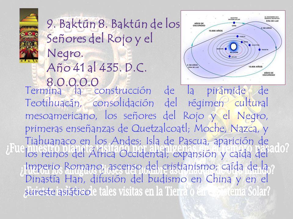 9. Baktún 8. Baktún de los Señores del Rojo y el Negro. Año 41 al 435. D.C. 8.0.0.0.0.