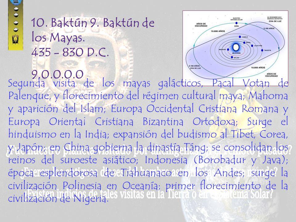 10. Baktún 9. Baktún de los Mayas. 435 - 830 D.C.