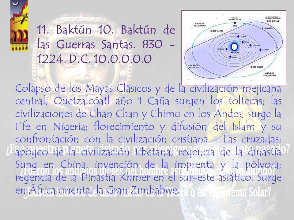 11. Baktún 10. Baktún de las Guerras Santas. 830 - 1224. D.C. 10.0.0.0.0.