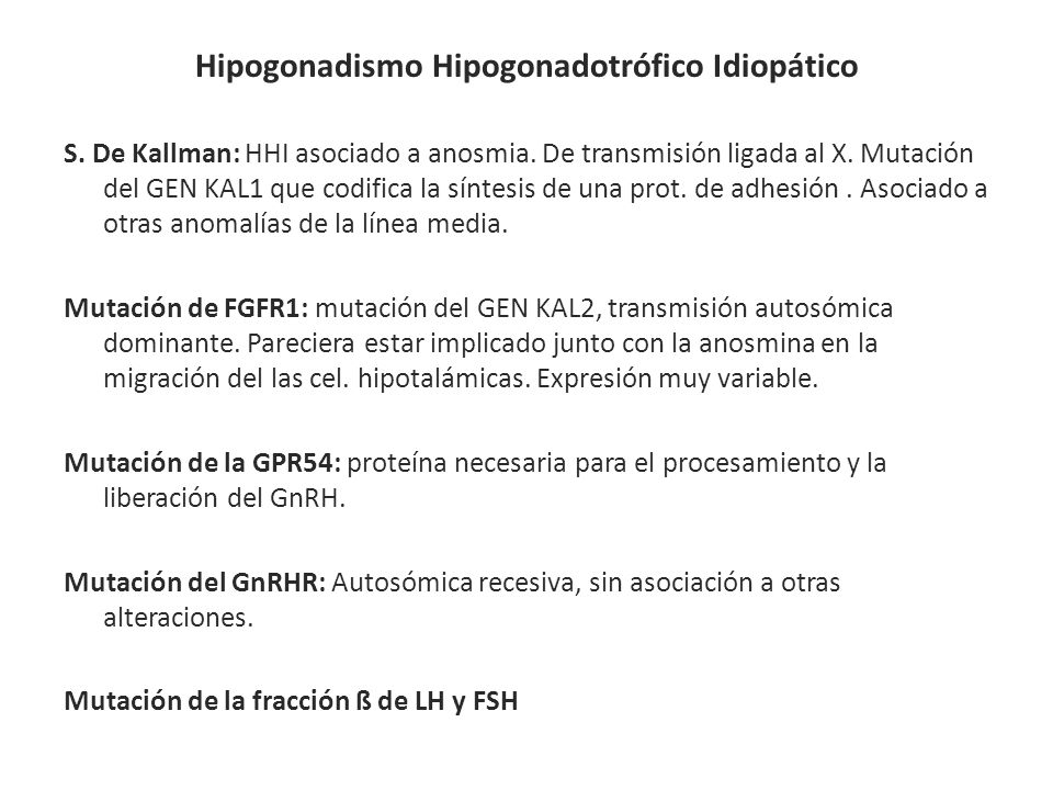 Hipogonadismo Hipogonadotrófico Idiopático