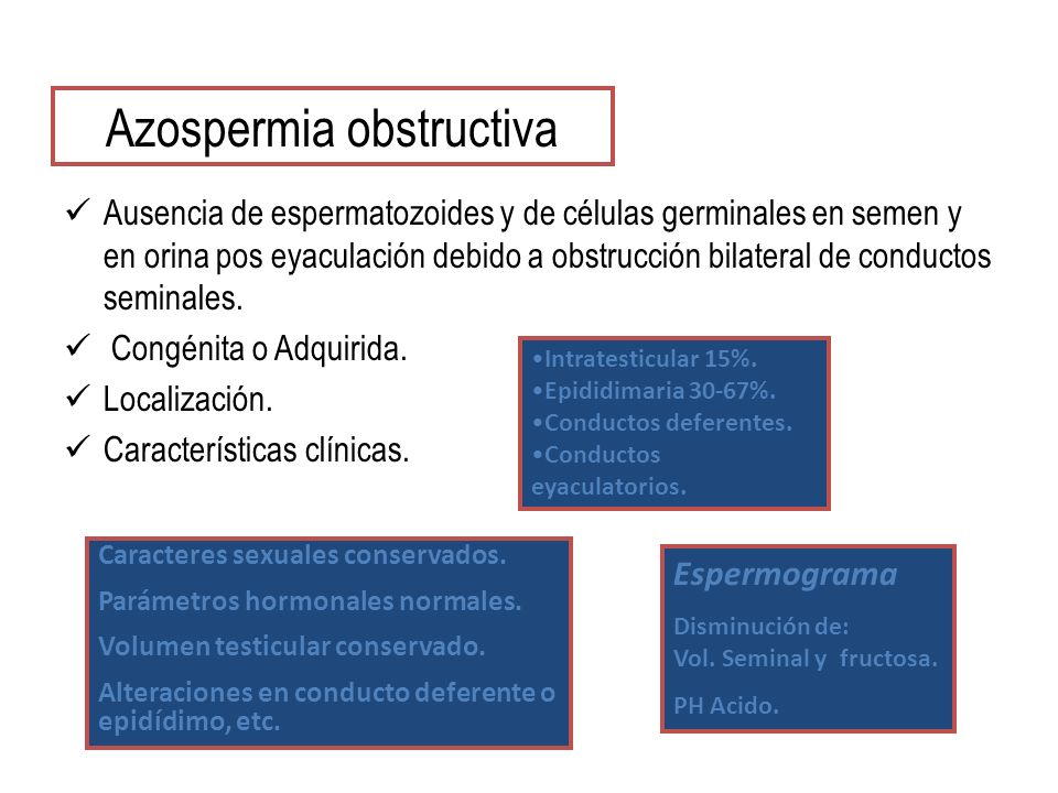 Azospermia obstructiva